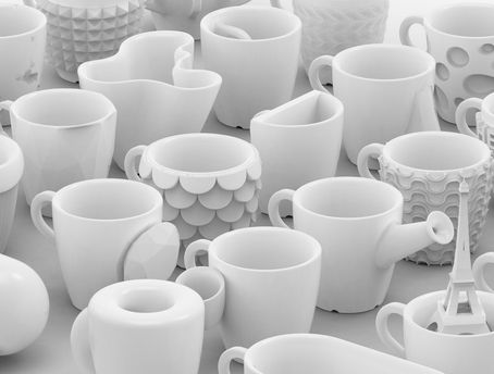 Кружки для кофе напечатанные на 3D-принтере