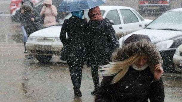 Мокрий сніг прогнозують на заході