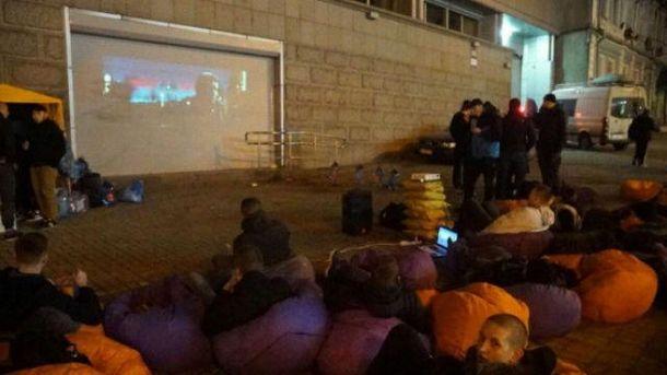 Кино на стене