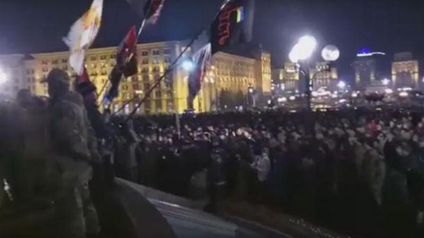 Люди пришли на Майдан поддержать блокировщиков
