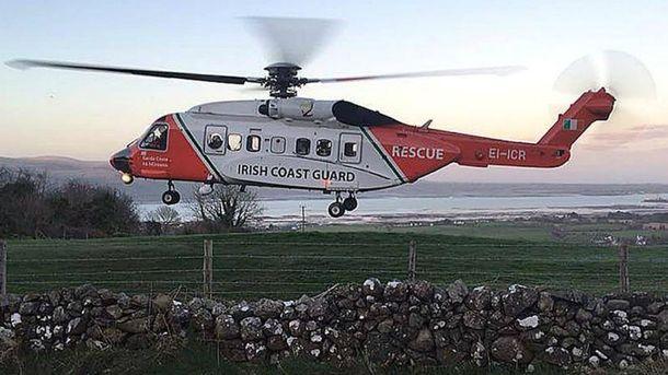 Рятувальний вертоліт берегової охорони зазнав аварії в Ірландії