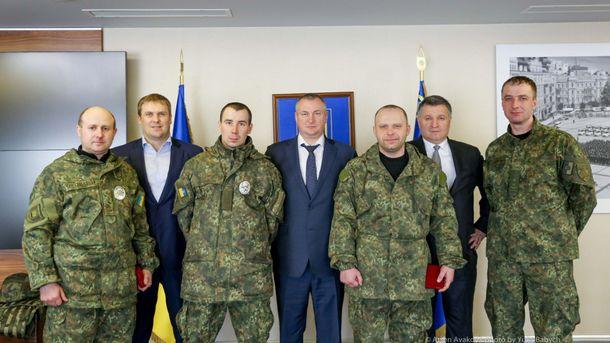 Высшее руководство полиции и правоохранители из Донбасса