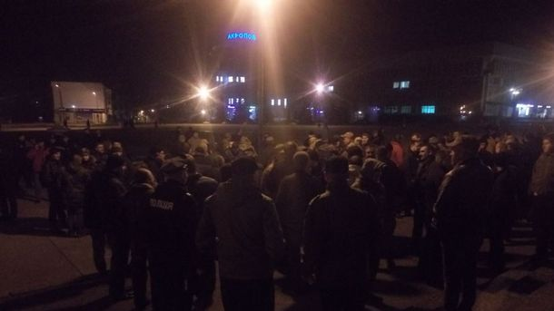 Протесты под Сумской ОГА
