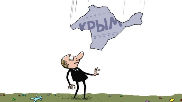 Анексія Криму. Карикатура
