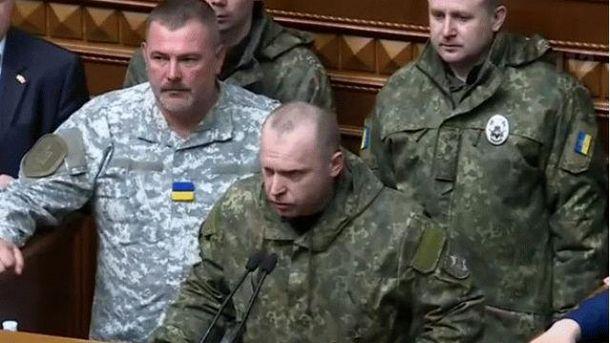 Юрий Голубан за трибуной Верховной Рады