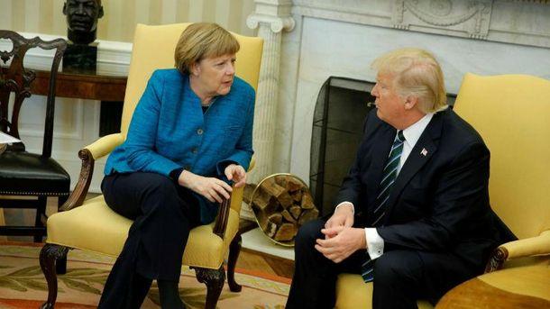 Дональд Трамп та Ангела Меркель