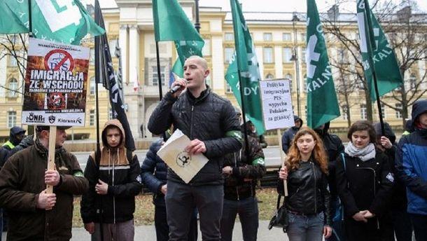 Мітинг у Польщі
