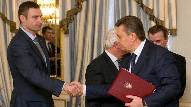 Виталий Кличко, Виктор Янукович