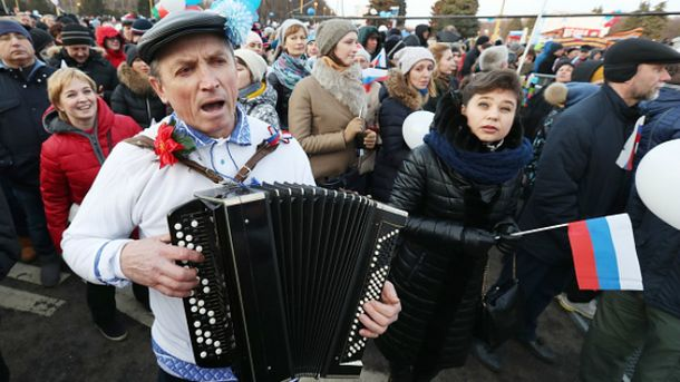 В России праздновали аннексию Крыма