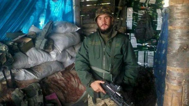 Военнослужащий 36-й отдельной бригады морской пехоты сержант Леонид Галайчук