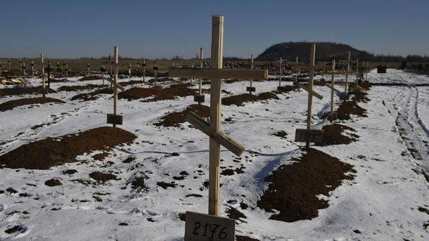 Кладовище бойовиків. Околиці Донецька