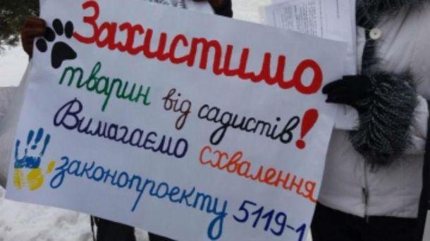 Акция протеста в Луцке