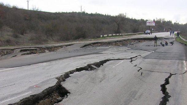 Состояние дорог в Крыму