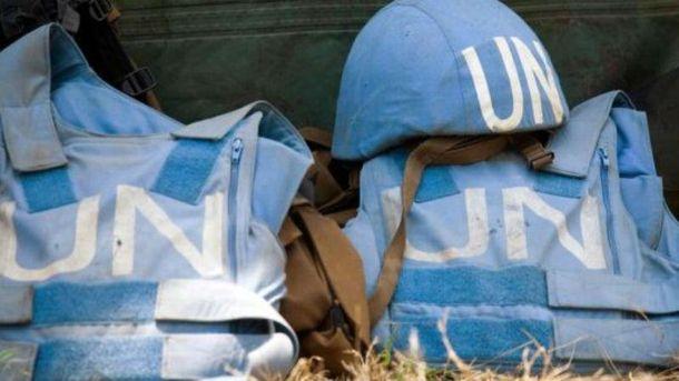 Амуніція представників ООН
