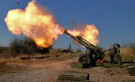 Террористы обстреливают из артиллерии позиции сил АТО