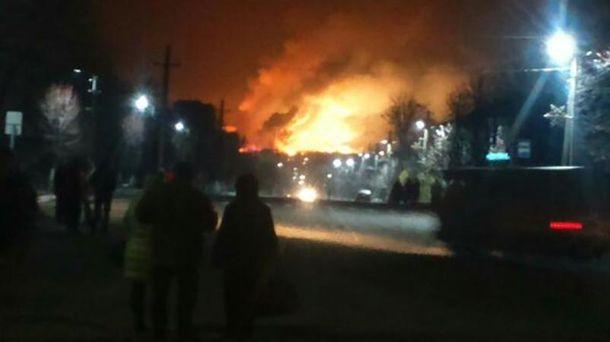 Пожар на военных складах возле Балаклеи