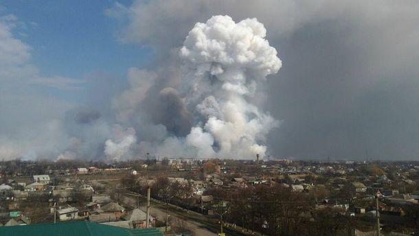 Взрывы на складах возле Балаклеи