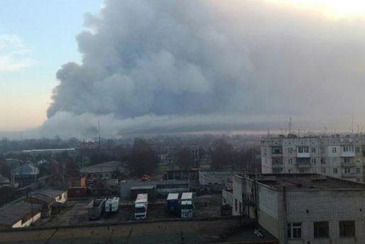 В Балаклії зменшилася потужність вибухів на військових складах