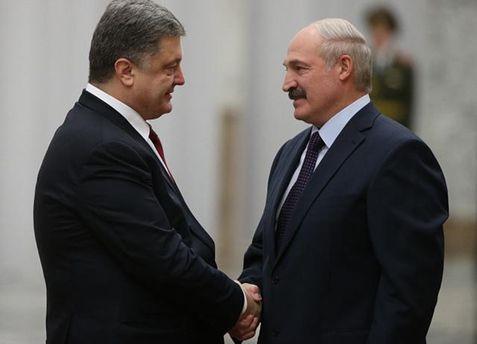 Порошенко домовився з Лукашенком про політичний діалог