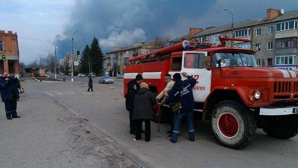 В результате взрыва военного арсенала в Балаклее один человек пострадал