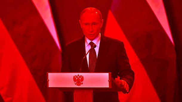 Кровавый Владимир Путин