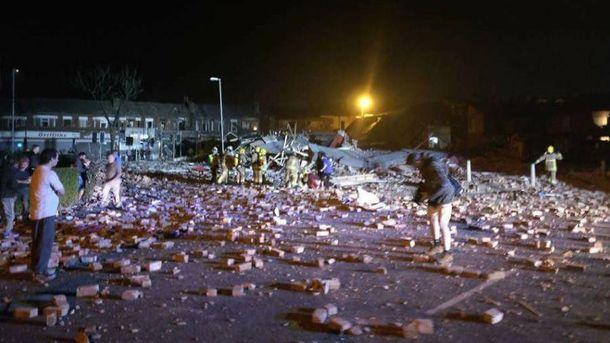 Место взрыва в Бебингтоне