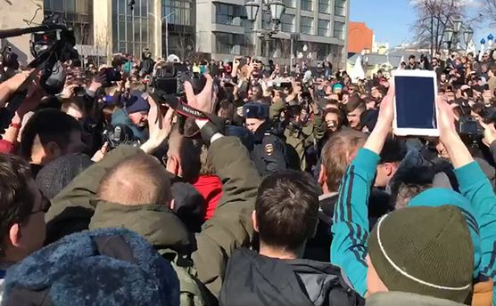 Поліція затримує активістів у Москві