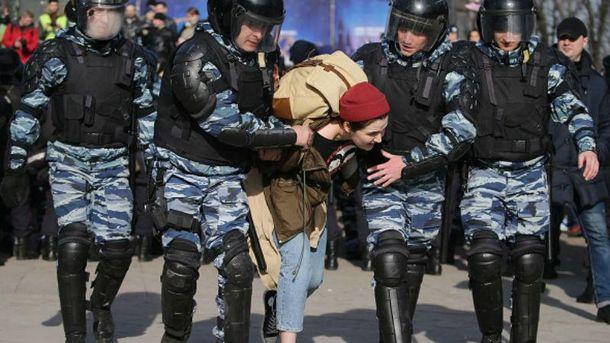 Затримання активістів в Москві