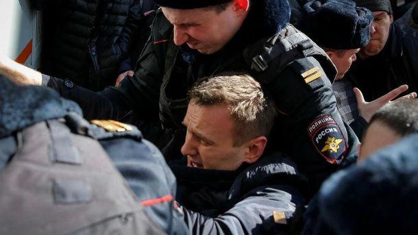 Затримання Навального в Москві