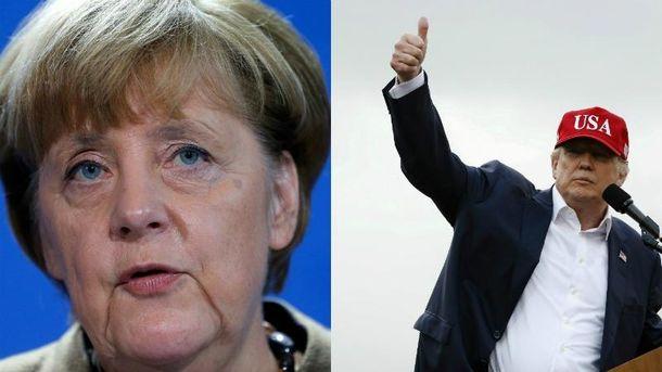 Меркель и Трамп