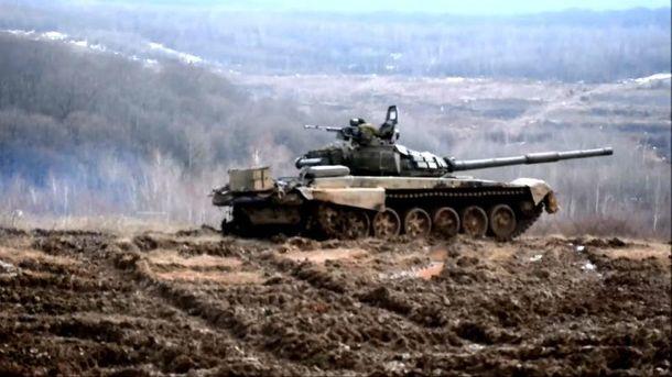 Навчання танків у горах