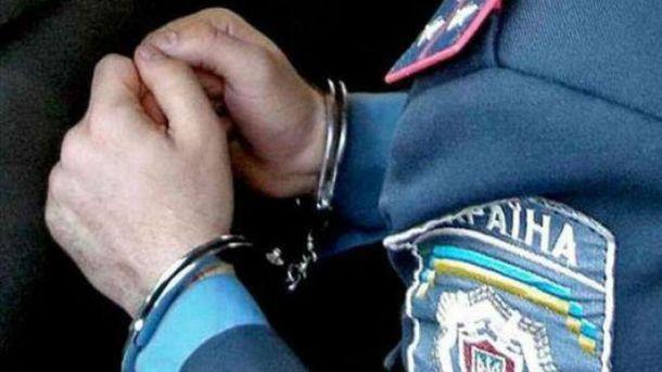 Затримання працівника правоохоронних органів