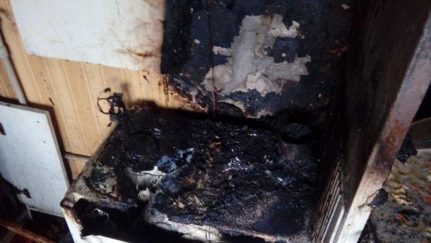 Наслідки пожежі у Костянтинівці