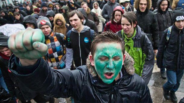 Молодь на антикорупційних акціях протесту