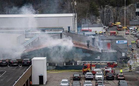 Завод Volvo вспыхнул в Швеции