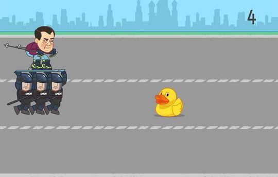 Медведев против уточек: в интернете опубликовали увлекательную онлайн-игру