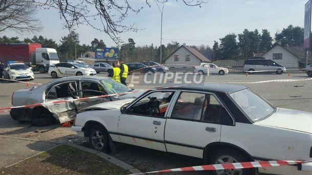 Тяжелая  авария в Киеве