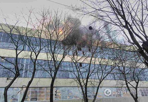 Велосипедный завод горит в Харькове