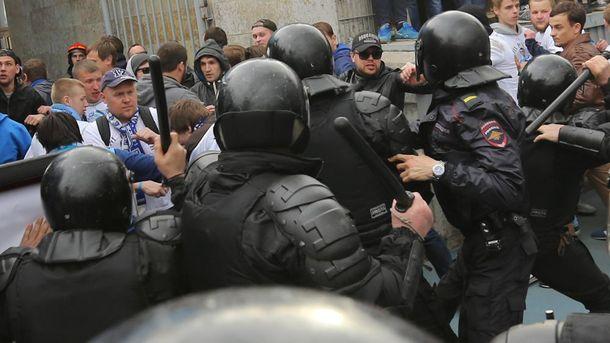 Столкновения с полицией в Санкт-Петербурге