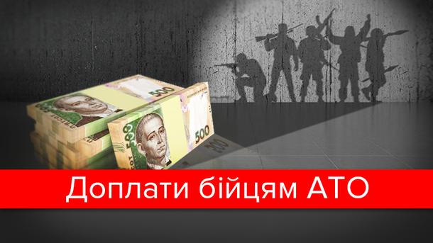 Бійцям АТО підвищили доплати