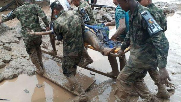 Помощь пострадавшим в Колумбии
