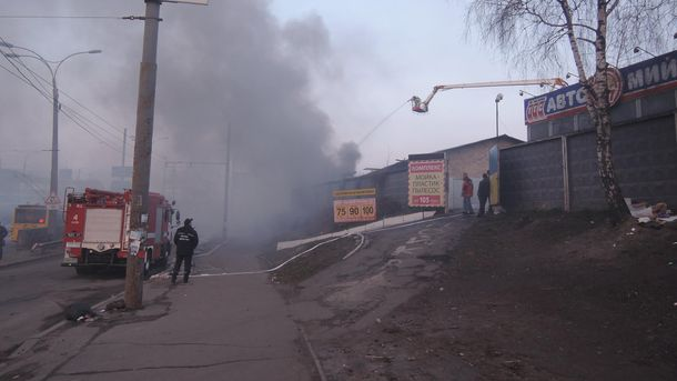 Пожежа на Позняках у Києві