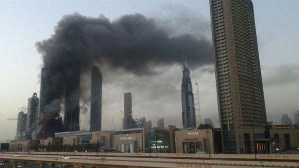 Пожар в Дубае