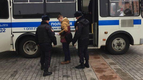 Затримання підлітка у Москві
