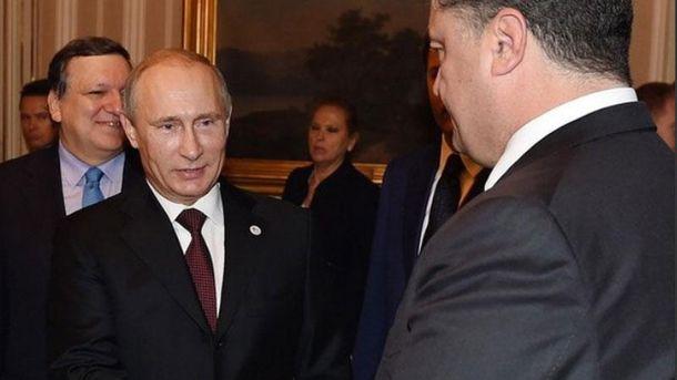 Петр Порошенко и Владимир Путин