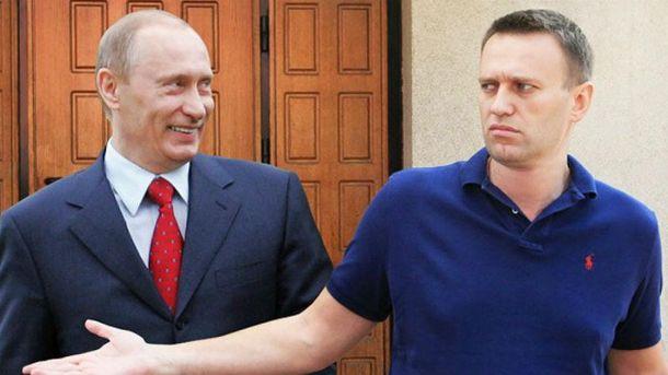 Навальний і Путін