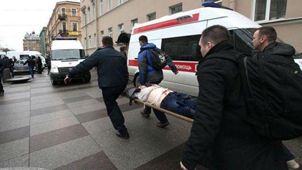 Евакуація поранених у Санкт-Петербурзі