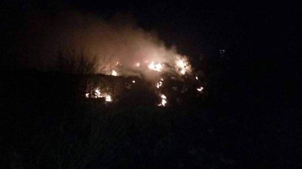 Пожежа на Житомирському сміттєвому полігоні