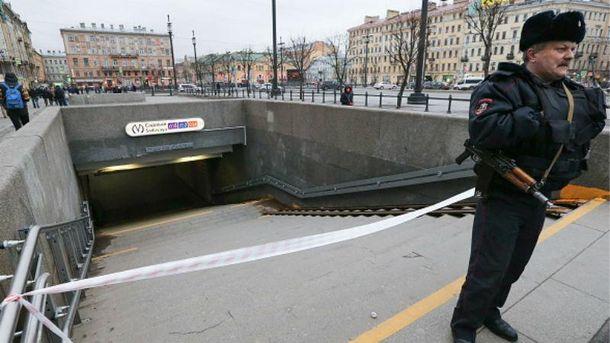 Фото з місця теракту в Петербурзі