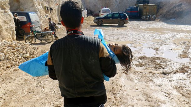 Наслідки газової атаки в Сирії